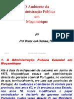 O Ambiente da Administração Pública  em Moçambique
