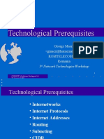 Technological Prerequisites