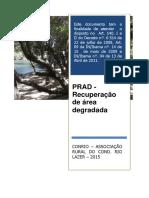 Projeto de Recuperacao de Areas Degradad