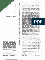 Maria Célia Paoli (1973) Trabalho e marginalidade-um estudo de caso