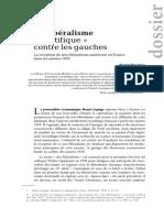 Un Liberalisme Scientifique Contre Les g