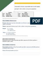 Portugués- Pronombres