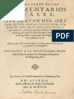 1609 Garcilasso de La Vega Comentarios Reales de Los Incas 1era Parte