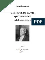 LEFEBVRE_Henri_-_Critique_de_la_vie_quotidienne_I