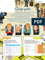 Pages Escape Games CM2 Cap Maths
