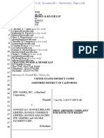 Epic v. Google First Amended Complaint for Injunctive Relief