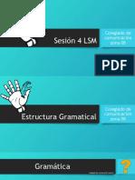 Sesión 4 Lsm Gramatica