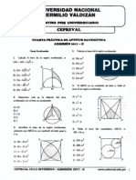Aptitud matemática - cuarto repaso