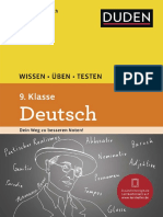 Duden, Wissen Üben Testen - Deutsch 9 Klasse