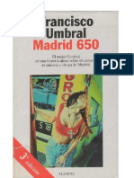 Umbral, Francisco - Madrid 650
