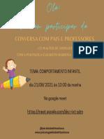 Conversa com pais e Professores