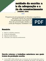 Heterogeneidade Da Escrita_ a Novidade Da Adequação e a Experiência Do Acontecimento (CORRÊA, 2006)