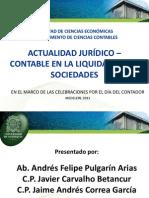 Conferencia:Actualidad Jurídico Contable en la Liquidación de Sociedades