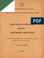 José María Arguedas - Qué es el Folklore