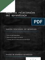 Aspectos Relacionales Del Aprendizaje