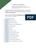 Los 14 Enfoques de la Administración 1ro de contaduria