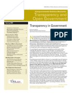 2009 Open Gov and Transparency Circular