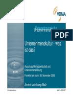 VDMA (2007) Unternehmenskultur-was Ist Das
