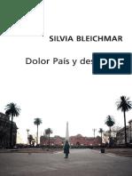 Bleichmar, S. - 2007 - Dolor pais, y despues... [Cap. IV]