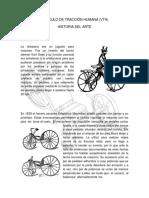 Vehiculo de Traccion Humana Vth Historia