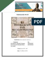 INTOXICACION CON METALES PESADOS