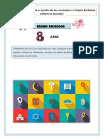- 8º ANO - ENSINO RELIGIOSO - PARNARAMA