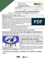 Semana 23 - 1608 a 2008 - 8 Ano Leitura