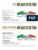MPA Night on the Town--April
