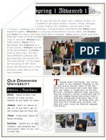 ELC Adv. I Newsletter - Spring 1 2011