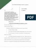 Tom Adams Affidavit Horace case
