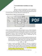 3 Funcionamiento de un transformador monofásico en carga