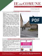 Notizie Dal Comune di Borgomanero del 19-08-2021