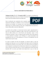 Comunicado Junta Directiva de Transcaribe