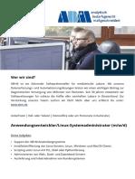AB+M Stellenausschreibung Anwendungsentwickler Linux-Systemadministrator