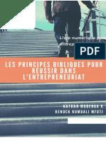 Principes Bibliques Pour Reussir - Entrepreneuriat