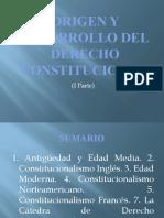 ORIGEN Y DESARROLLO DEL DERECHO CONSTITUCIONAL