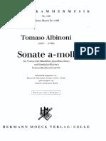 Albinoni - Sonata a Minor - Continuo by Gerber and Bach