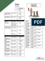ORANGE 4.4 schedule