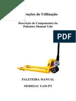 Manual de Operações Paleteira Manual YALE YA55-PT