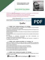 Quintas Mortíferas - VUNESP Psicopatologia