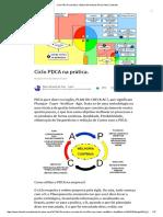 Ciclo PDCA na prática
