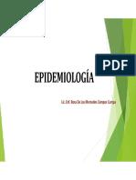 CLASE N°01 - INTRODUCCION A LA EPIDEMIOLOGIA