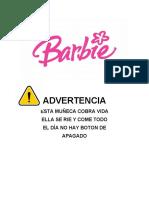 BARBIE - ADVERTENCIA