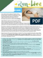 Guía para mejorar el sueño de un atleta