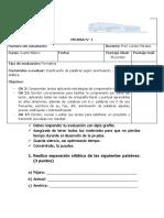 Evaluación Lenguaje y Comunicación 4to básico 2021