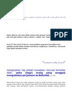 Ayat 97 Dari Surat Al Imran, Menunjukkan Gugurnya Kewajiban Haji