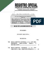 Reglamento de Ley de Servicio Público