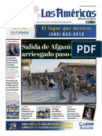 POrtada Digtal Diario Las Americas 20 agosto
