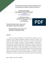 1- AGLOMERADOS INDUSTRIAIS DE PEQUENAS E MÉDIAS EMPRESAS COMO  MECANISMO PARA PROMOÇÃO DE DESENVOLVIMENTO REGIONAL