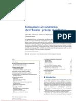 entéroplasties de substitution chez l'homme, principe et réalisation